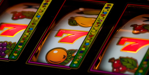 machine à sous affichant un jackpot