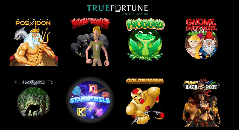 divers jeux du casino True Fortune