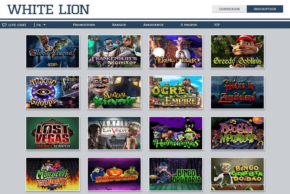 Machines à sous white lion casino