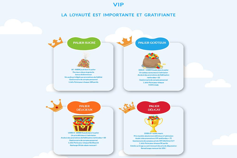 Programme VIP Jelly Bean Casino