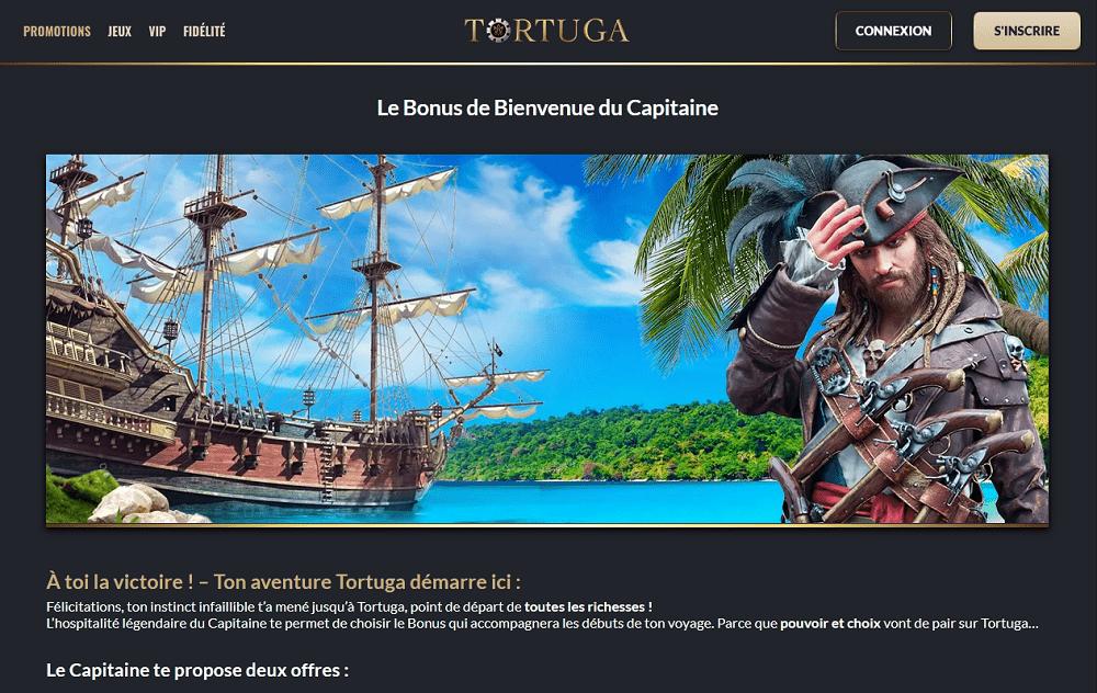 Tortuga Casino Bonus de bienvenue du Capitaine