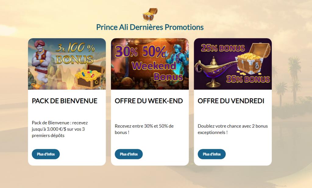 prince ali casino dernieres promotions