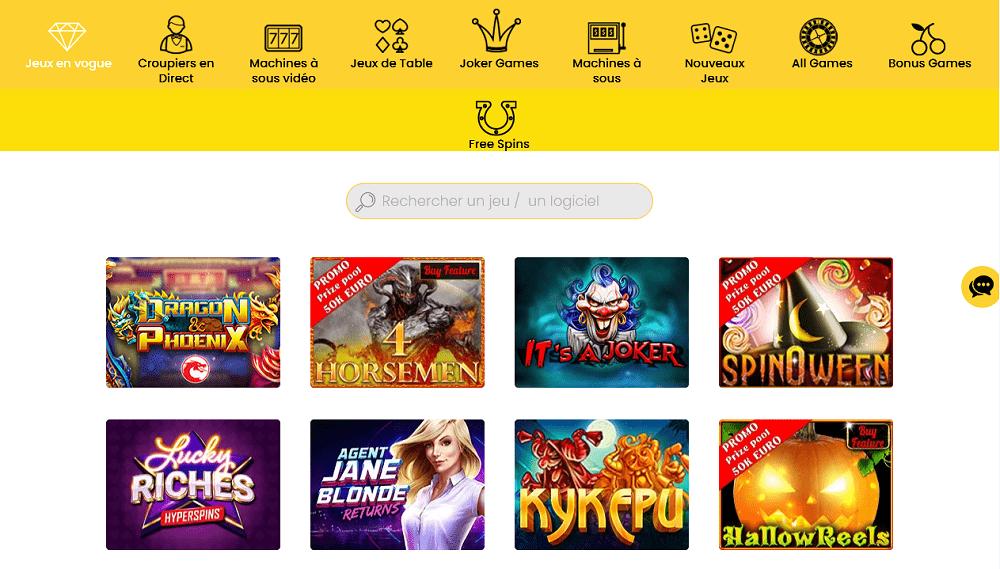 ludotheque de jeux casino dingo