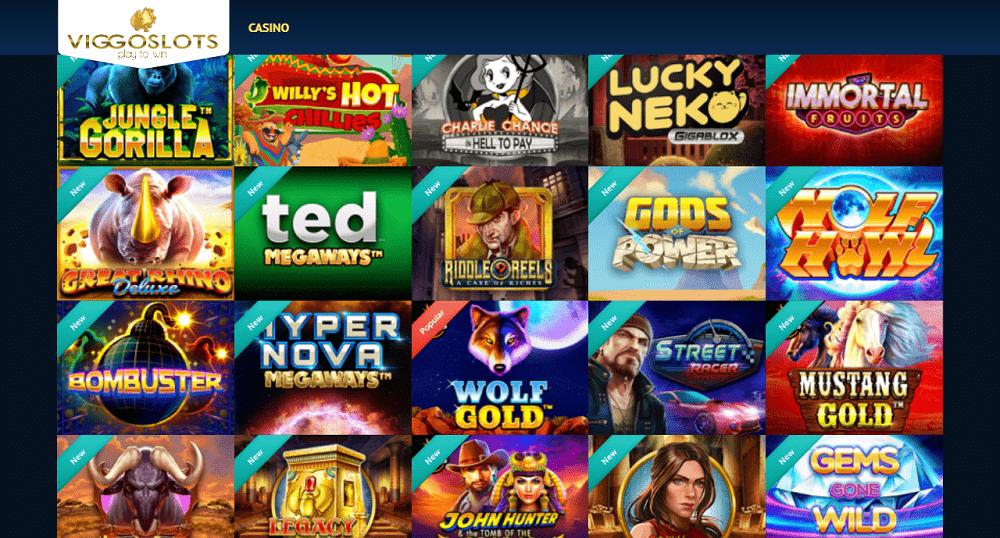 ludotheque de jeux plusieurs fournisseurs Viggoslots