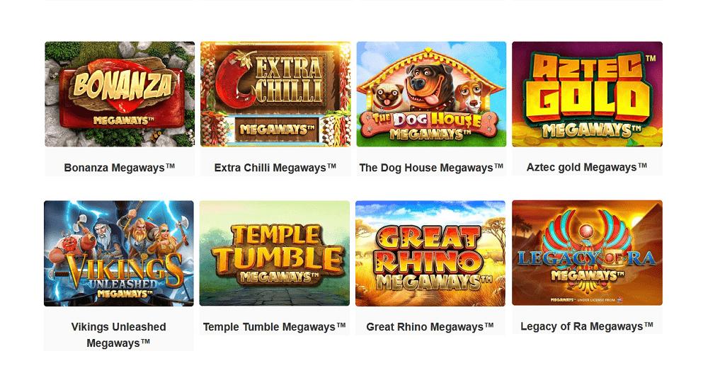 jeux de casino proposant la fonctionnalité Megaways