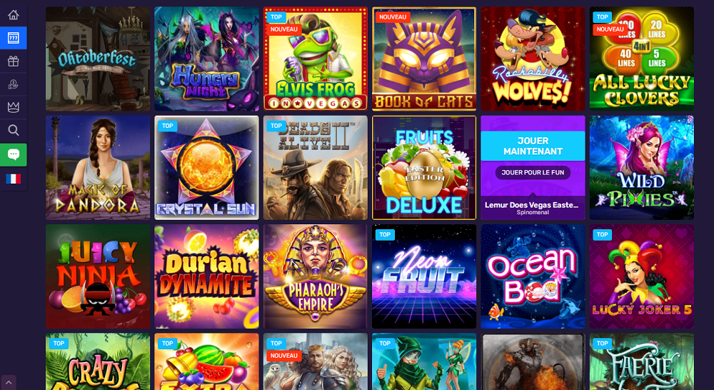 jeux variés casino bitcoin