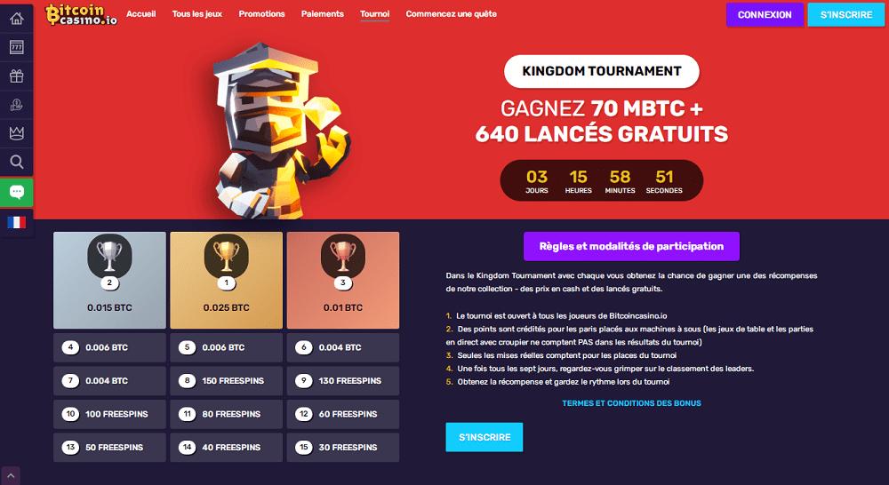 tournoi bitcoin casino