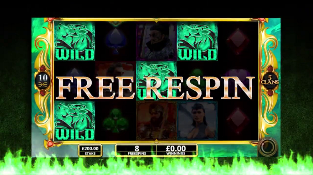 5 clans free respin